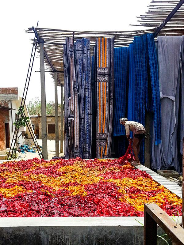 voyager dans le rajasthan à sanganer et voir la teinture des tissus en inde avec l'agence de voyage thisy-travels www.thisytravels.fr
