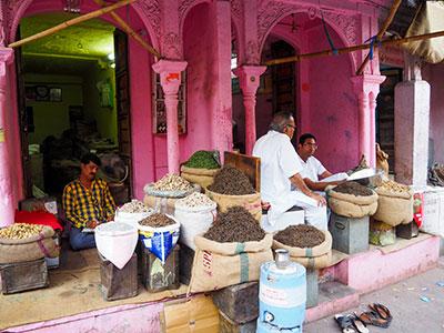 les epices au marche de bikaner dans le rajasthan en inde du nord avec les voyages de l'agence thisy-travels www.thisytravels.fr