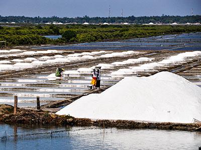 les mines de sel dans le tamilnadu à pondicherry en inde du sud avec les voyages de thisy-travels www.thisytravels.fr