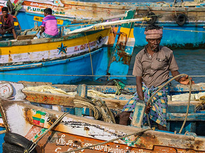 dans le tamilnadu en inde du sud à thothkudy avec les voyages de thisy-travels www.thisytravels.fr