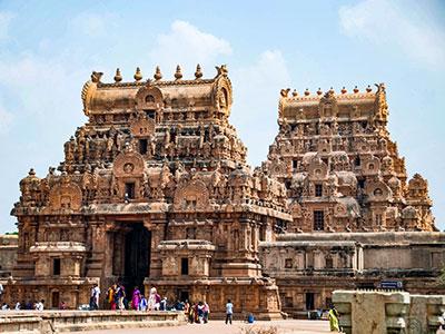 le temple de tanjor dans le tamilnadu en inde du sud avec les voyages de thisy-travels www.thisytravels.fr