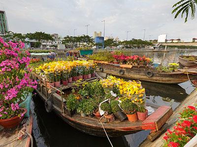 le marché au fleurs de hoa-binh au vietnam avec les voyages de Thisy-Travels www.thisytravels.fr